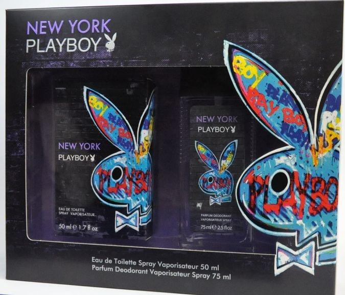 d2a18c3c PLAYBOY NEW YORK (WODA TOALETOWA 50ML+ATOMIZER 75ML) ZESTAW ...